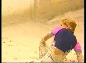 French gameshow mud wrestling