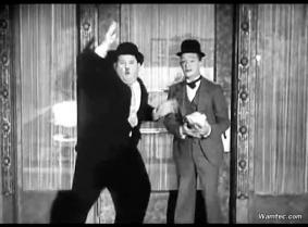 Classic Laurel & Hardy wetlook