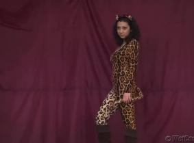 Leopard Skin WetCosplay Model
