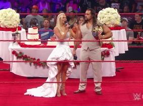 WWE cake fight