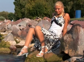 This is the first update with our new girl, Edina. In all the updates she will wear her own dresses and skirts and the location of the shootings is the Balaton lake in Hungary.