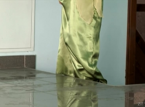 We considered that this green satin nightgown is sexy enough to be on this site, and if you are here and read this probably agree. So here's to you for your good taste.