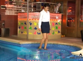 If someone did not believe that a secretary outfit can look stunning in the pool even for the ones who are not wetlook lovers, this is one of the updates that can change few minds ;)