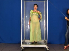 We doubt that the seethru fans will rave about this update, but we are sure that the gunge tank fans will love seeing Oxana all covered with red slime. She is wearing a nightgown, pantyhose, heels and at some point she will strip topless.
