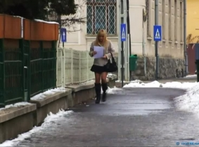 This is another clip that was made originally for a custom-videos.com client, last winter. The script was about a girl (Monika) searching an address and entering in the pool house. The script also requested that she handle a fully working mobile phone, a