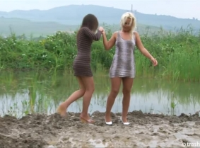 Judith and Geena Z. are up and ready for this new lesbian style update in the mud. We assure you - it doesn't disappoint.