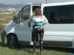 The story with this update is that our van needed a little washing so since we needed an idea for the clip we got Andreea all dressed up for the job and asked her nicely to clean our van. 