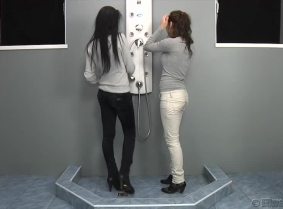 """Since on sexywetlook.com we ended the year with a """"two girl update"""" the crew thought that it would be nice to do the same for casualwetlook.com  So what we have in the new update is Adria and Kata taking a shower together and playing with each other's we"""
