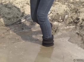We promissed you guys more updates where the girls are covering their casual outfits with mud or slime. We do the best to keep our promise, Kinga is playing for you in the mudpit wearing a casual combination of clothes. Wash off session available.
