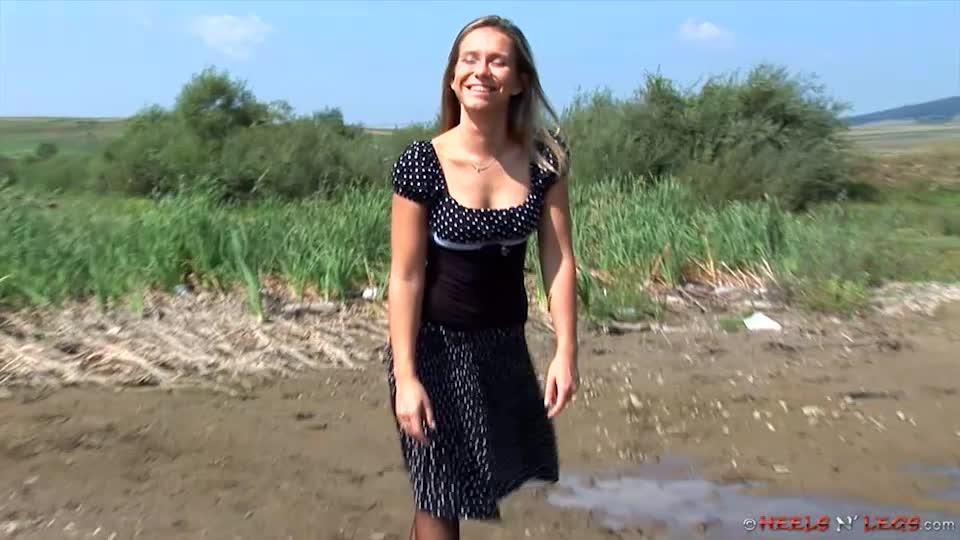 Pantyhose in mud